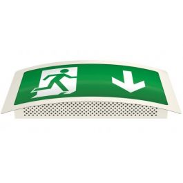 X-ESC LED Maintained Self Testing Curved Exit Sign