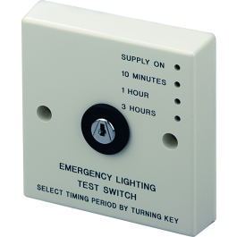 Emergency Light Timed Key Test Switch